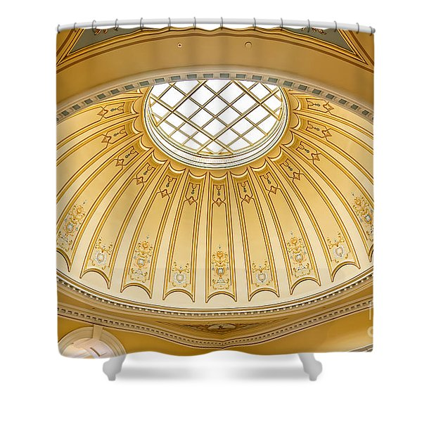 Shower Curtain featuring the photograph Virginia Capitol - Dome Profile by Jemmy Archer
