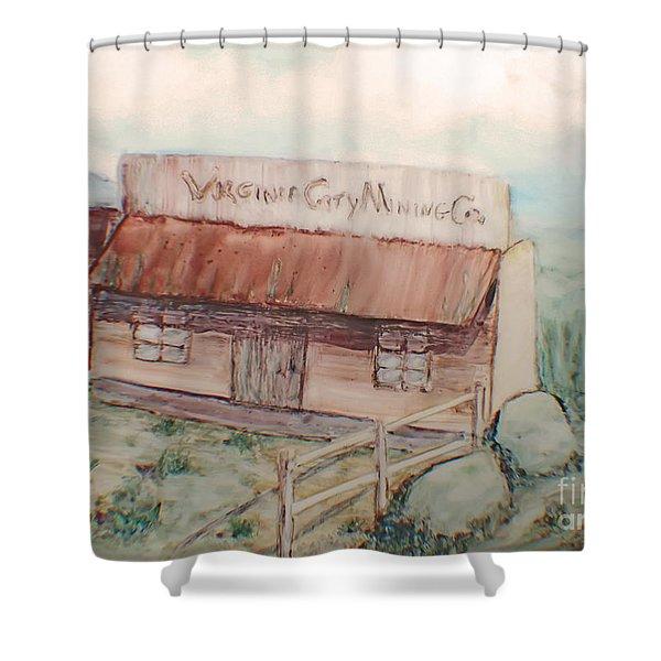 Virginia City Mining Co. Shower Curtain