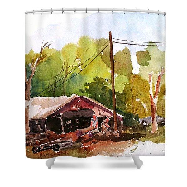 Virginia Saw Mill Shower Curtain
