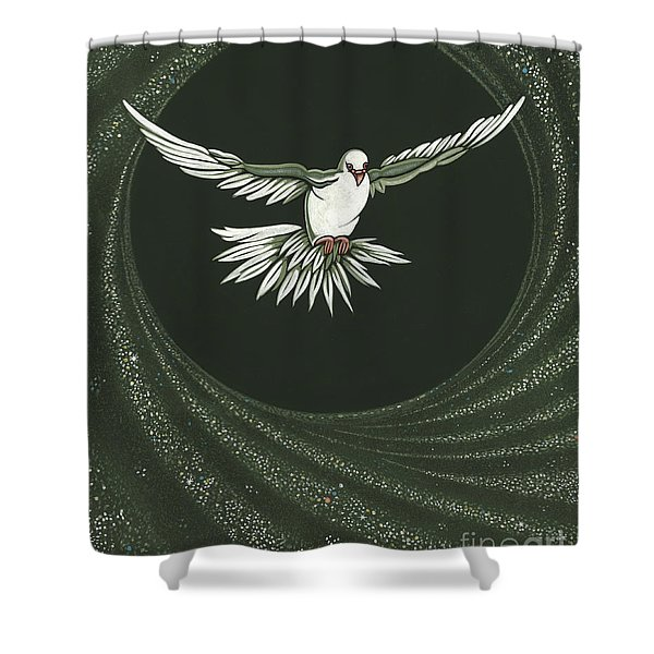 Viriditas-holy Spirit Detail Shower Curtain