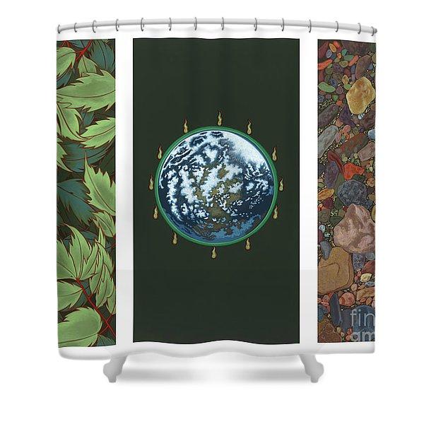 Viriditas Triptych Shower Curtain