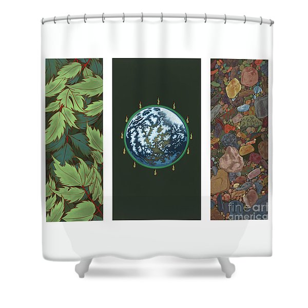 Viriditas Triptych Shower Curtain