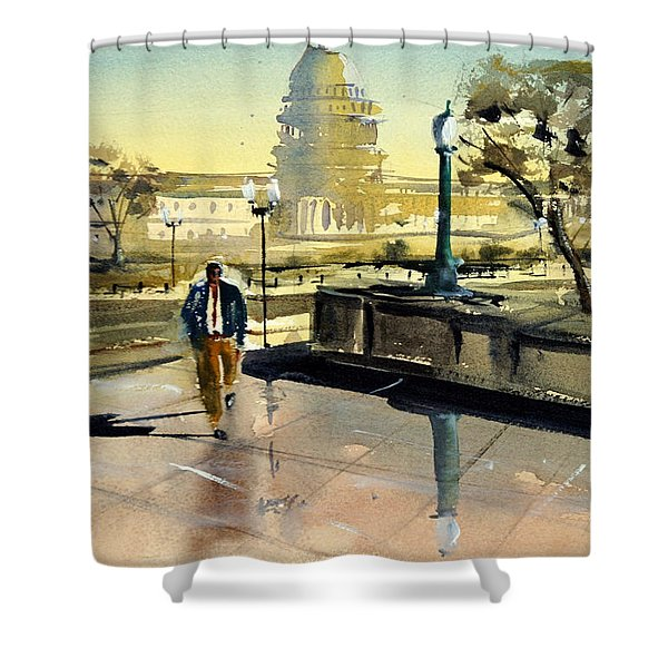 Visiting The Library Of Congress Shower Curtain