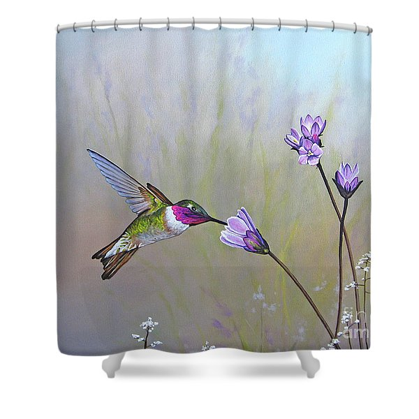 Visiting The Purple Garden Shower Curtain