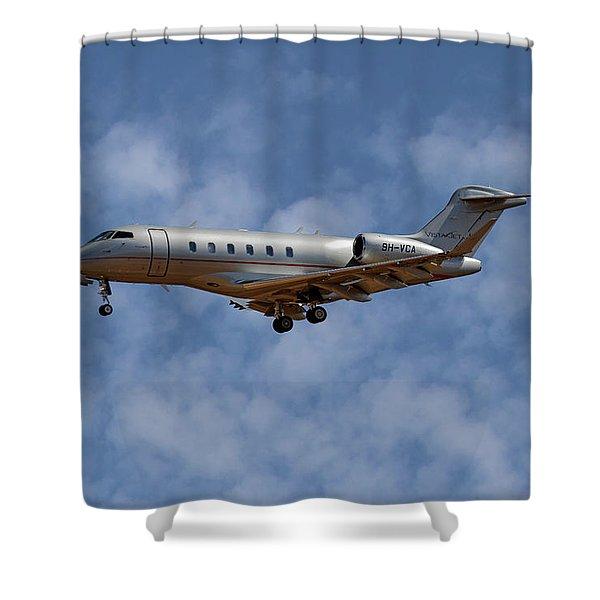 Vista Jet Bombardier Challenger 300 1 Shower Curtain