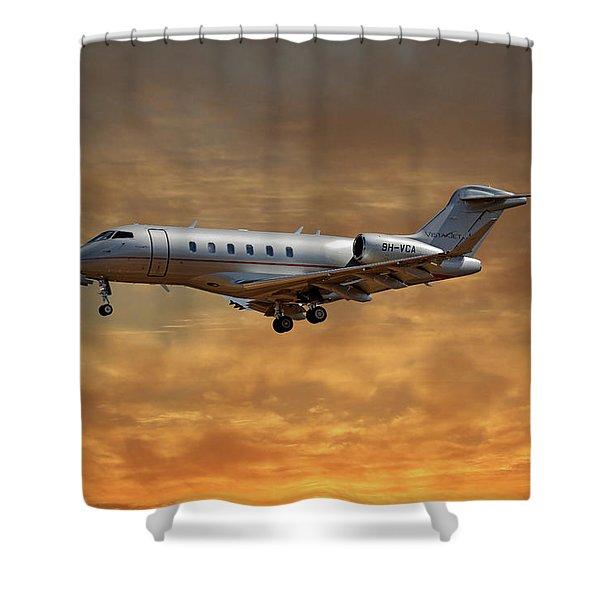 Vista Jet Bombardier Challenger 300 2 Shower Curtain