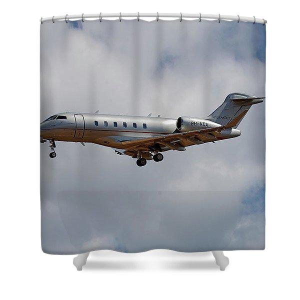 Vista Jet Bombardier Challenger 300 5 Shower Curtain