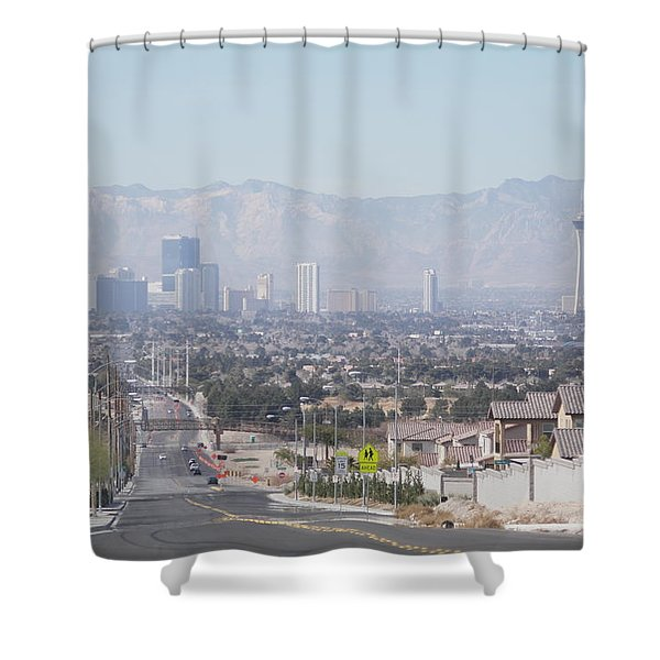 Vista Vegas Shower Curtain