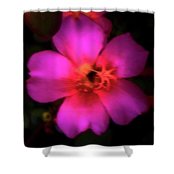 Vivid Rich Pink Flower Shower Curtain