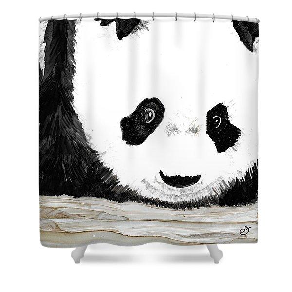 Vivi's Pet Panda Shower Curtain