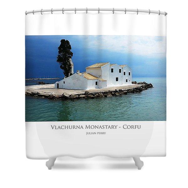 Vlachurna Monastary - Corfu Shower Curtain