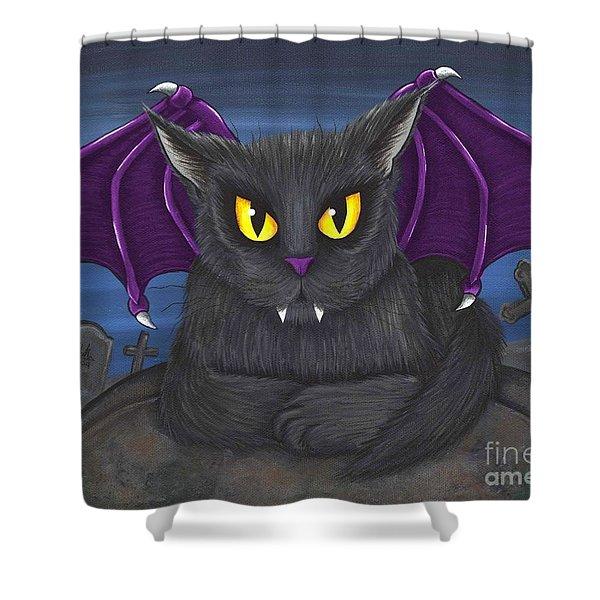Vlad Vampire Cat Shower Curtain