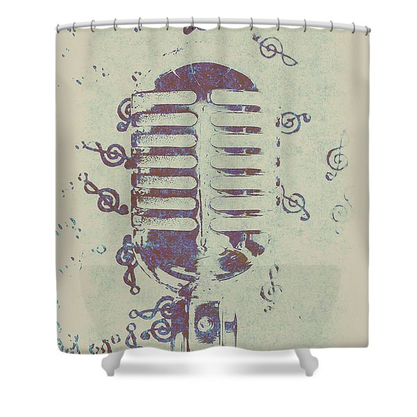 Vocal Harmony Shower Curtain