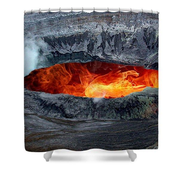 Volcanic Eruption Shower Curtain