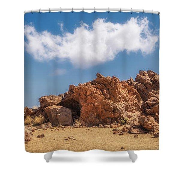 Volcanic Rocks Shower Curtain