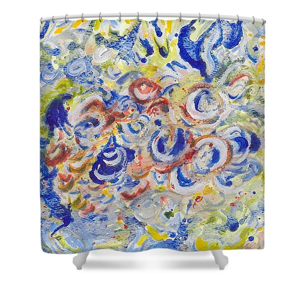 Volcanic Sea Acrylic/water Shower Curtain