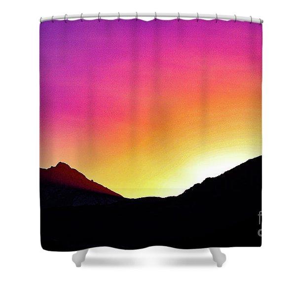 Volcanic Sunrise Shower Curtain