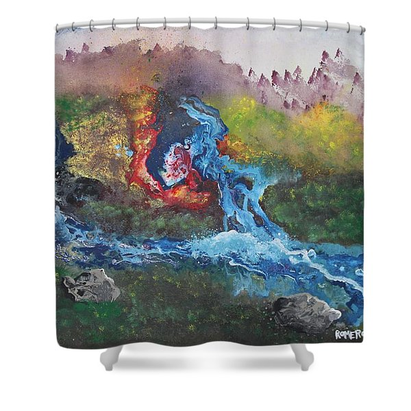 Volcano Delta Shower Curtain