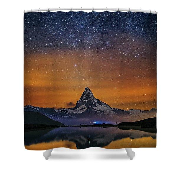 Volcano Fountain Shower Curtain