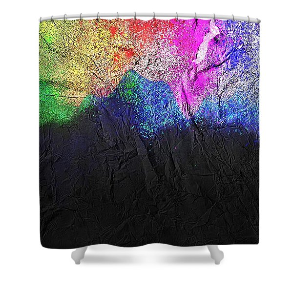 Shower Curtain featuring the painting Volcano by Mark Taylor