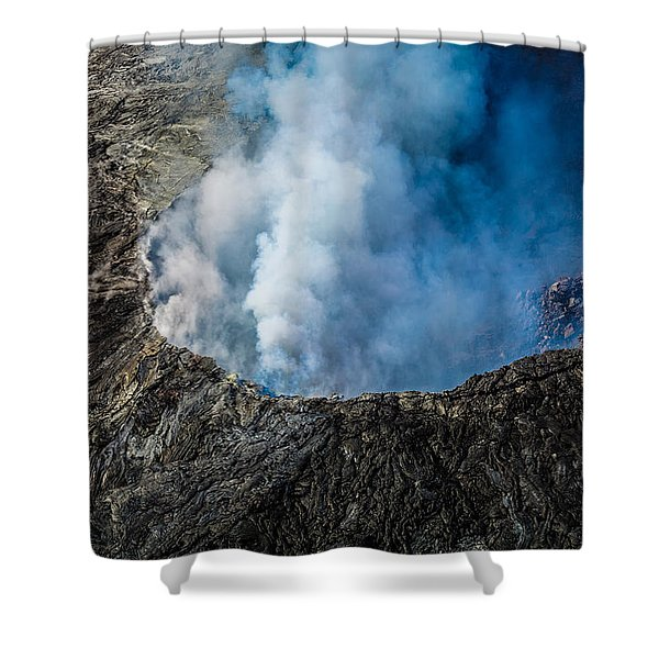 Another View Of The Kalauea Volcano Shower Curtain