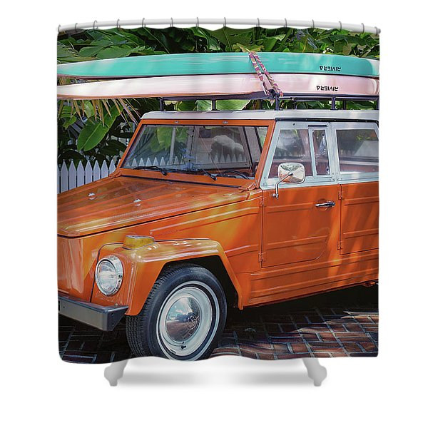 Volkswagen And Surfboards Shower Curtain