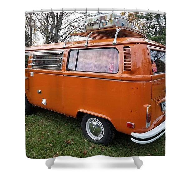 Volkswagen Bus T2 Westfalia Shower Curtain