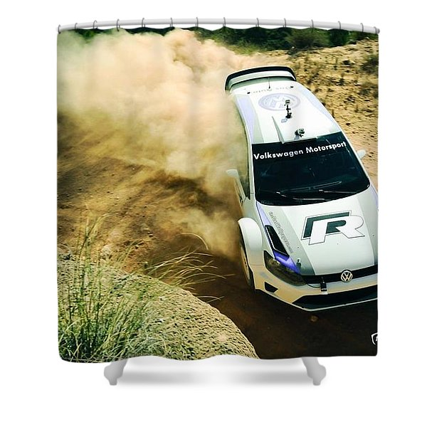 Volkswagen Polo Rally Shower Curtain