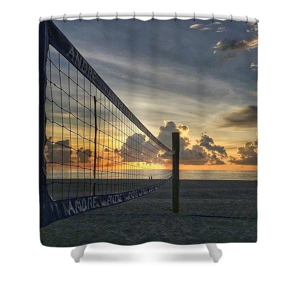 Volleyball Sunrise Shower Curtain