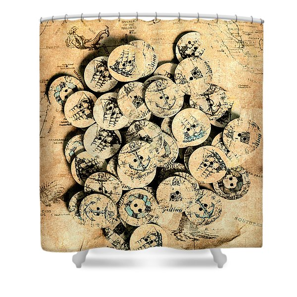 Voyages Of Old World Shower Curtain