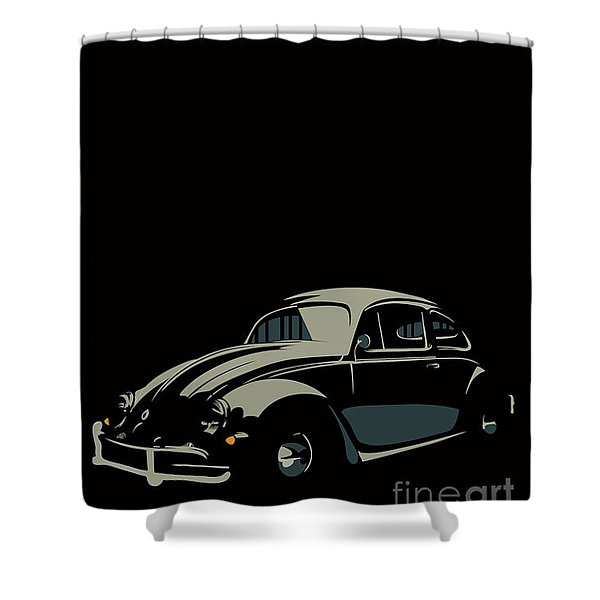 Vw Beatle Shower Curtain
