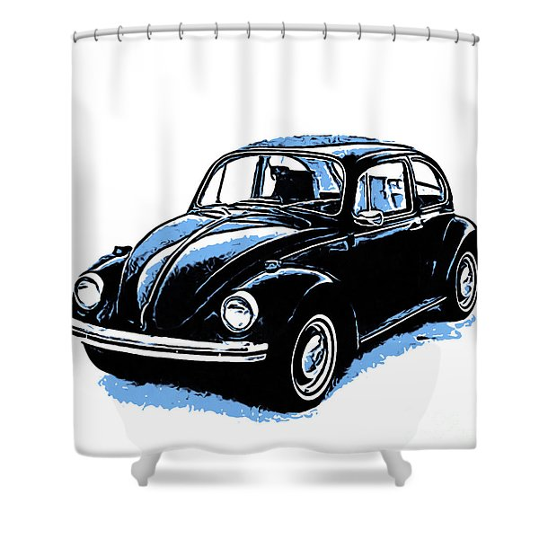 Vw Beetle Graphic Shower Curtain