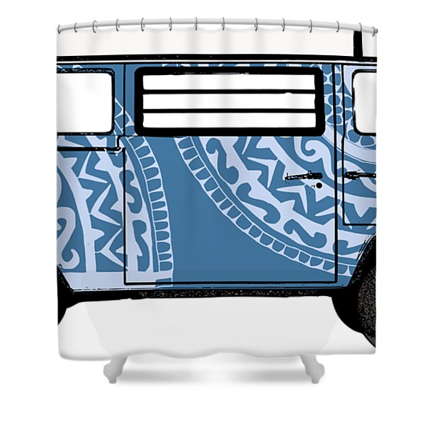 Vw Blue Van Shower Curtain