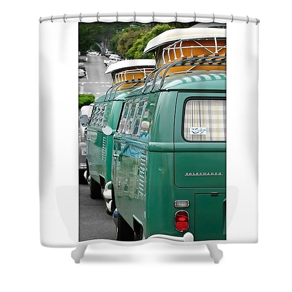 Vw Buses #carphotographer #vw #vwbus Shower Curtain