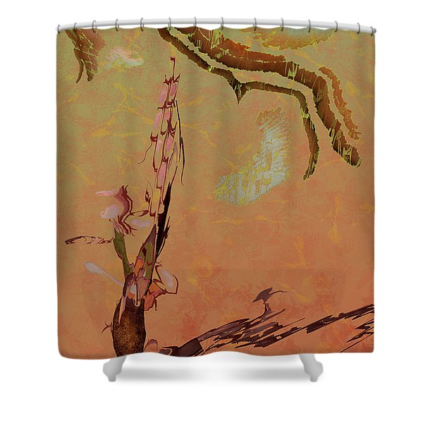 Wabi Sabi Ikebana Shower Curtain