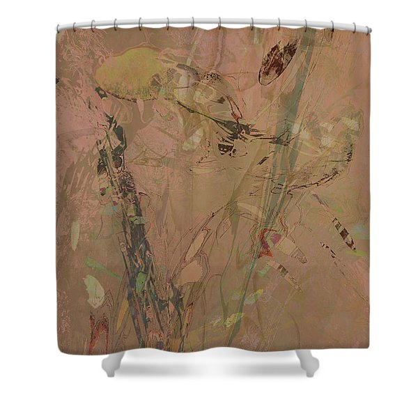 Wabi-sabi Ikebana Original Mashup Shower Curtain