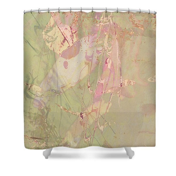 Wabi Sabi Ikebana Revisited Shabby 4 Shower Curtain