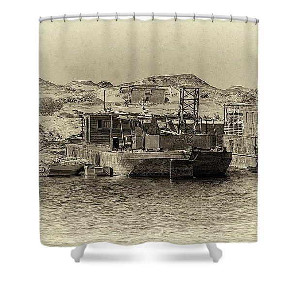Wadi Al-sebua Antiqued Shower Curtain