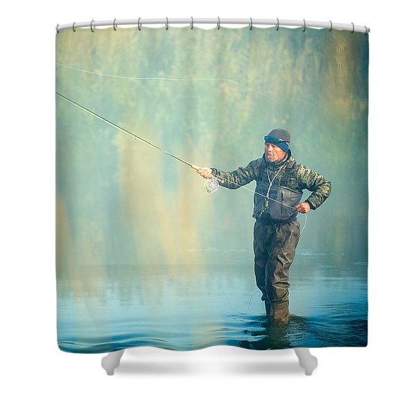 Wading For Trout Shower Curtain