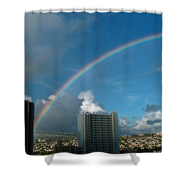 Waikiki Rainbow Shower Curtain