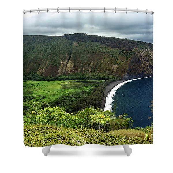 Waipio Valley Shower Curtain