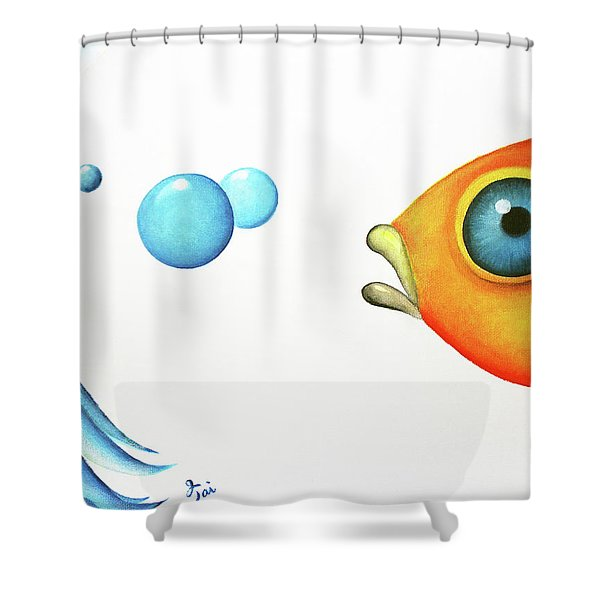 Wait Up  Shower Curtain