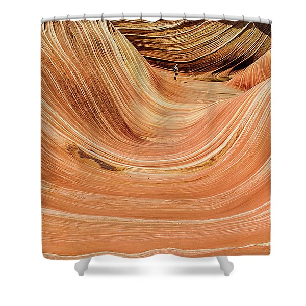 Waiting At The Wave Shower Curtain