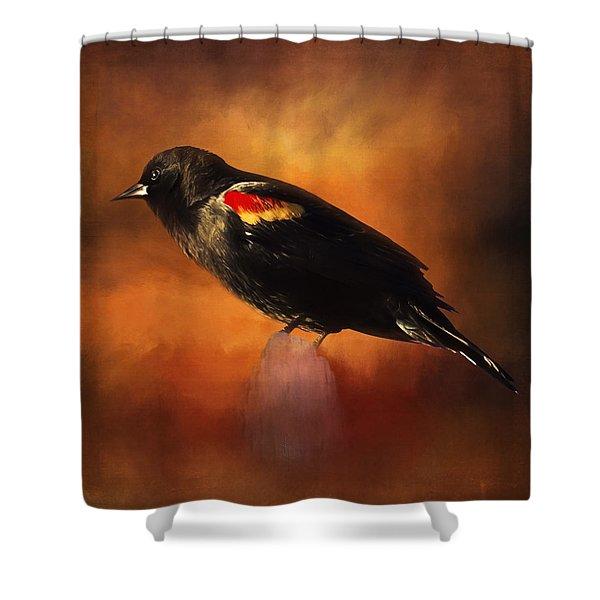 Waiting - Bird Art Shower Curtain