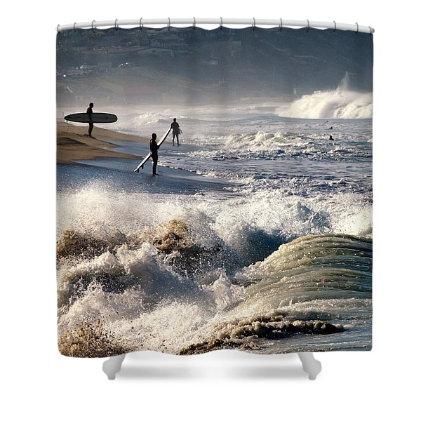 Waiting By Mike-hope Shower Curtain