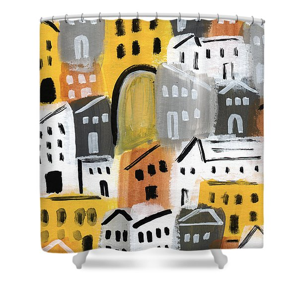 Waiting For Autumn- Expressionist Art Shower Curtain