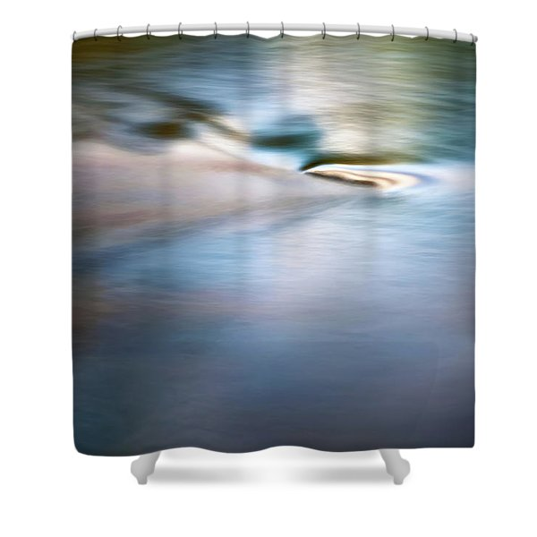 Waiting For The River Shower Curtain