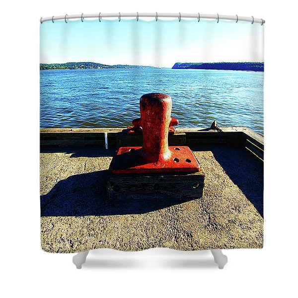 Waiting For The Ship To Come In. Shower Curtain
