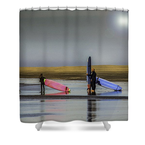 Waiting For The Surf Shower Curtain