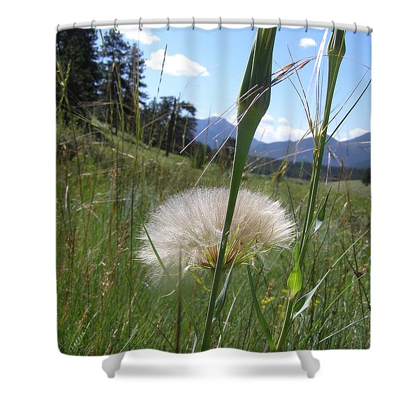 Waiting For The Wind Shower Curtain